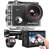 AKASO EK7000Pro 4K Touch Screen Action Camera with EIS Adjustable View Angle 40m Waterproof Underwater Camera Remote Control WiFi Sports Camera with Helmet Accessories Kit
