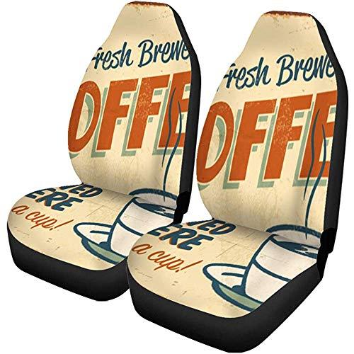 Beth-D autostoelhoezen, vintage, metaal, effect van koffie, vers gemalen koffie, voor vrachtwagens