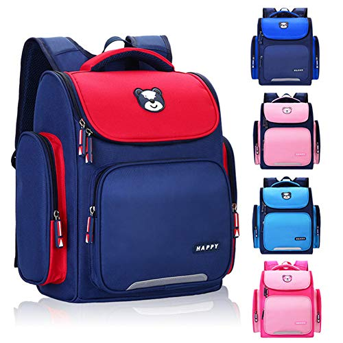 GT-LYD Kid's Backpacks, Children's School Bags Backpacks, Spine Protection Backpacks, Space Bag, Lightweight Backpacks Schoolbags for Boys & Girls,Rose red,Small