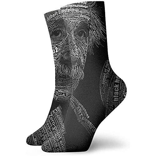 chongha Unisex Socken Physik Mathematik Formel Wissenschaft Einstein Fashion Neuheit Trockensport Socken