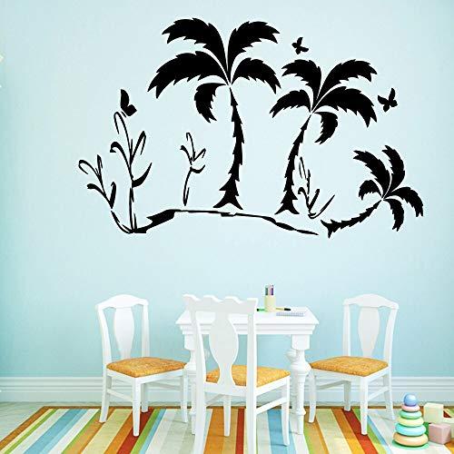 Tianpengyuanshuai Lustige Kokosnussbaum Tapete Hauptdekoration Wandaufkleber für Kinderzimmer Aufkleber 42X76cm