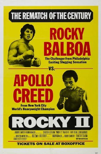 Pop Culture Graphics Rocky 2 Poster Movie 11x17 Sylvester Stallone Talia Shire Burt Young Burgess Meredith