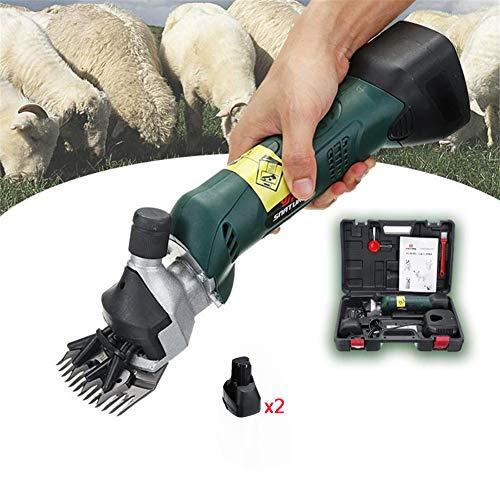 Schermaschine Schafe Hochleistungs Professional Schnurlos ,Schafschermaschine Schafschere 200W & 4000 mAh Akku Elektrische Wollschere Schere Wollfader,Pufferbatterie (Optional) kostenloser Koffer,2