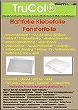 10x A3 53µm transparente brillante, película adhesiva - película para ventanas removible - removible sin dejar residuos - a prueba de roturas, resistente al calor, reutilizable