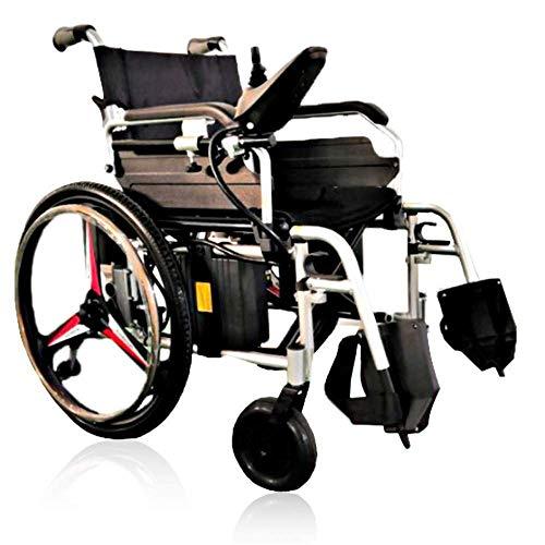 Ancianos Discapacitados Sillas de Ruedas Motorizadas Sillas de Ruedas Eléctricas Plegables para Todo Terreno el Acolchado Trasero de Doble Motor Diseño de Ranura Cojinete de Alta Carga Aleación de Al