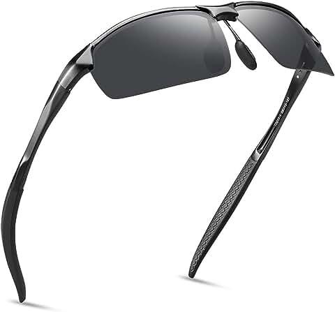 Soxick Unisex Adjustable Metal Frame Polarized Sunglasses