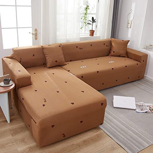 ASCV Fundas de sofá de poliéster elástico para Muebles de Sala Protector de sofá de Dos plazas Funda de sofá sillón Funda de sofá A21 2-Sitzer