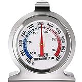 Termómetro de Esfera Grande de Horno Termómetro de Serie Classic Ahumador de Parrilla de Horno de Acero Inoxidable Termómetro de Monitoreo para Hornear de Cocina (1)