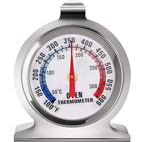 Ofen Große Dial Thermometer Thermometer der Classic-Serie aus Edelstahl Ofengrill Raucher Überwachung Thermometer für das Kochen in der Küche Backen (1)