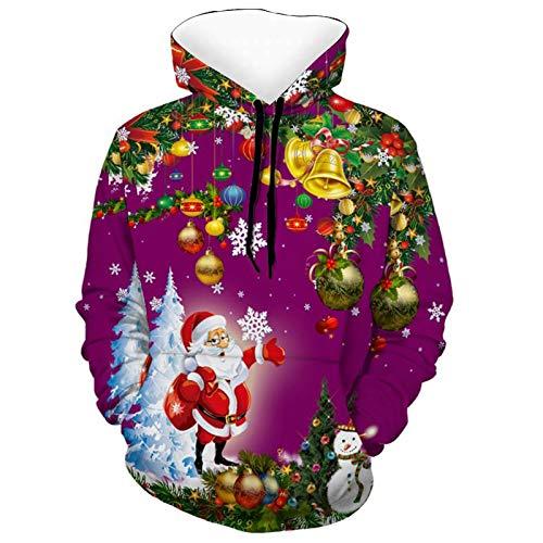 GWEWEI4DF WOMENS 3D 패션 디지털 인쇄 풀 오버 DRAWSTRING 까마귀 포켓 느슨한 부드러운 긴 소매 크리스마스 눈사람 스웨트 티셔츠