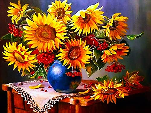 Sunflower Diamond Embroidery Flower 5D DIY Craft Kit Home Decoration Hand Embroidery Diamond Painting A14 60x80cm