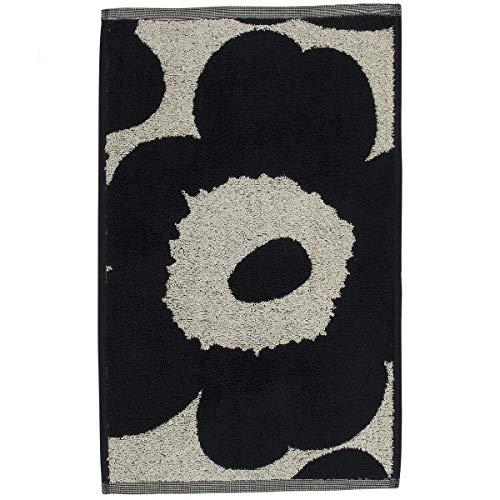 Marimekko - Unikko - Guest Towel - Gästehandtuch - Baumwolle - dunkelblau/florales Muster - 30 x 50cm