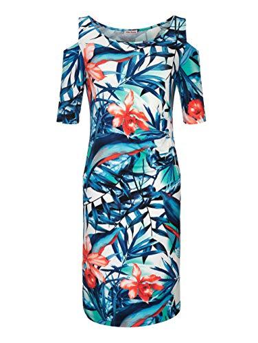 Damen Strandkleid Single Jersey im Cold-Shoulder-Style 42