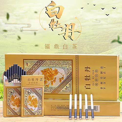 禁煙グッズ、中国の漢方薬,茶タバコ, 中国茶 健康茶 プエル茶 牡丹茶 ジャスミン茶 ロンジン茶 緑茶 ニコチン0% 茶煙 (白牡丹-粗い,1パック)