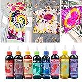 ningdeck Textil- und Stofffarbe-Set für Kleidung, Taschen und Partys, nicht null, 8 Farben, Free...