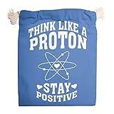 6pcs Think Like Proton Bolsas de lona con cordón transpirable Produce bolsa para el día de San Valentín Party Present Wrap - Always Positive Candy Bag, blanco (Blanco) - XHJQ88-STB