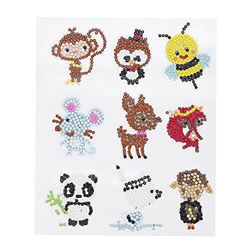 Queenser 5d diy diamante pintura de animais bonitos kits de pintura de diamante 9 pcs sea world diamond pintura adesivos para crianças adulto iniciantes