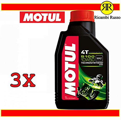 Motul 5100 10w50 4T olio motore moto 4 tempi litri 3