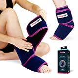 Foot & Ankle Ice Pack with Professional Wrap - Compression & Cold Therapy