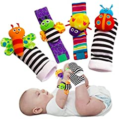Scientific studies into the healthy development of babies has lead to the creation of these adorable foot finders socks and baby wrist rattles for infants. These foot finders are a perfect choice for those interested in enhancing the sensory developm...