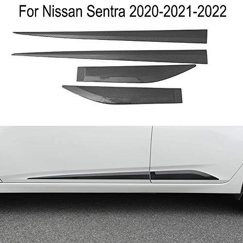 Fibra de carbono Car Body Door Side Moldura Trim sill Cover Guard para Sentra 2020-2021-2022