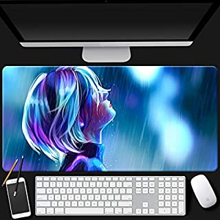 Mopoq Neal Mechanical Era Mouse Pad 2b Miss Sister Peripheral Game Anime Keyboard Pad Super Slip Student Desk Mat (Color :...