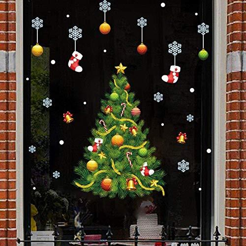 NLRHH 2 unids/Feliz Navidad Sala de Estar Ventana de Vidrio Copo de...