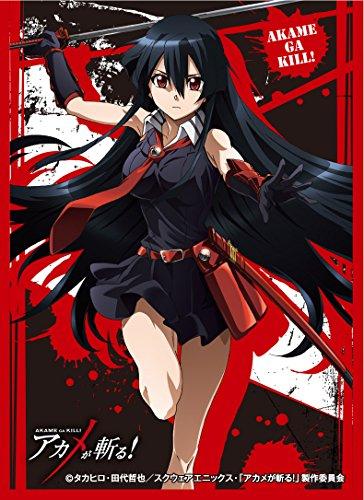ensky Akame ga Kill! Akame Card Game Character Sleeves Collection EN-082 82 Anime Girl Swordswoman Demon Sword Murasame Kiru image