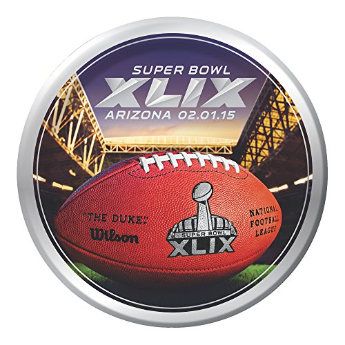 Creative Converting Arizona 8 Count Super Bowl 2015 Paper Lunch Plates, Multicolored