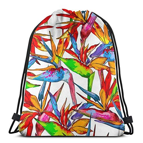 BXBX Trasportare Bags Seamless Pattern Of Colorful Drawstring Bag for Sports School Travel Swimming Bags Men, Women Students