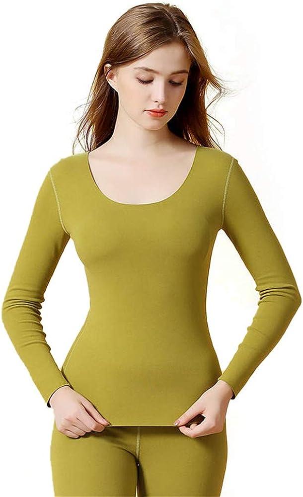 Dizadec Women's Lightweight Thermal Underwear Top Fleece Lined Base Layer Long Sleeve Shirt