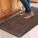 KMAT Kitchen Mat Cushioned Anti-Fatigue Floor Mat Waterproof Non-Slip Standing Mat Ergonomic Comfort Floor Mat Rug for Home,Office,Sink,Laundry,Desk 20'(W) x 39'(L),Brown