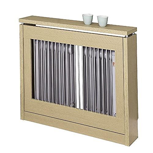 INTRADISA TOPKIT | Cubre radiadores Cristian 3090 | Cubreradiadores Modernos | Medidas Exterior 83 x 90 x 18,5 cm| Medidas Interior 81 x 84.5 x 15 cm | Estanterias para radiador | Roble