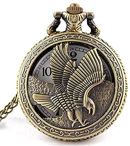 BEISUOSIBYW Co.,Ltd Collar Reloj de Bolsillo joyería Vintage Bronce Antiguo alas del águila shiying Huai Mesa Reloj de Bolsillo Collar Colgante Regalo para Hombres y Mujeres