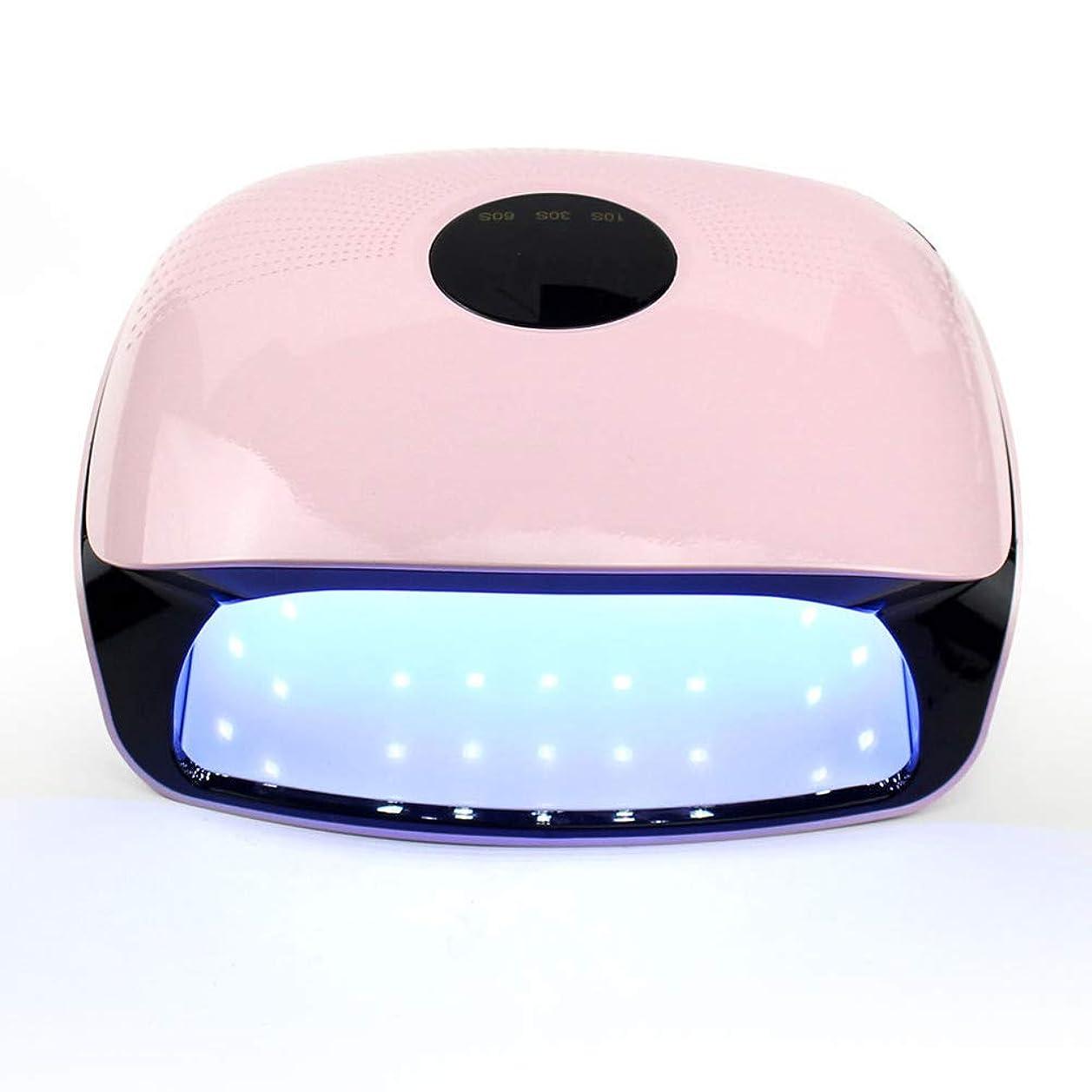 ピンク口頭テクトニックネイルドライヤー - 温度保護第3ギアタイミング無痛モード36 LGランプビーズ速乾性機上のLED光線療法機48W