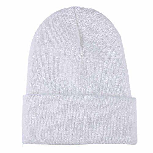 Fulltime® Bonnet à Tricoter Bonnet Hip hop Bonnet de Ski d'hiver (Blanc)