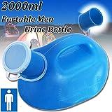 Essort Homme Urinoir, 2000 ml Portable Bouteille d'urine, convient pour hommes, vieux...