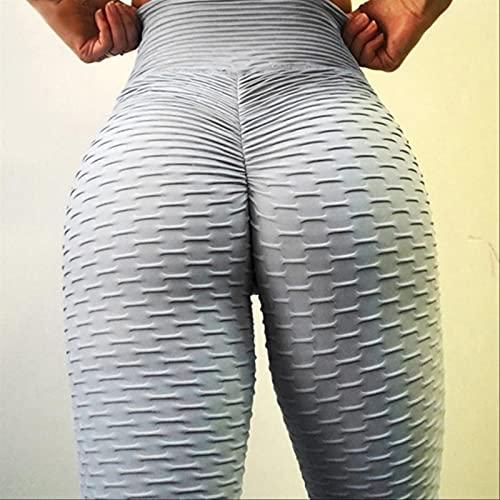 FDSJKD Mujeres Leggings Sport Fitness Legging Push Up Sexy Yoga Pantalones Casual Plus Tize Leggings Entrenamiento Ropa para Mujeres (Color : Gray, Size : L)
