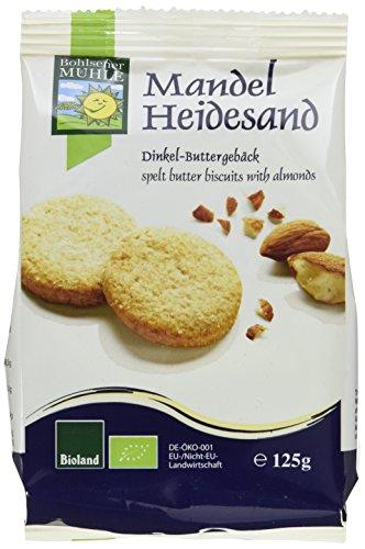 Bohlsener Mühle Mandel-Heidesand Dinklel-Buttergebäck, 6er Pack (6 x 125 g ) - Bio