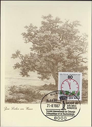 FGNDGEQN Colección de Sellos Federal Alemania Alemania Occidental 1985 Estampado Ambiente Ambiental Rescatado Forestal Límite de Reloj Película Película Random Hair