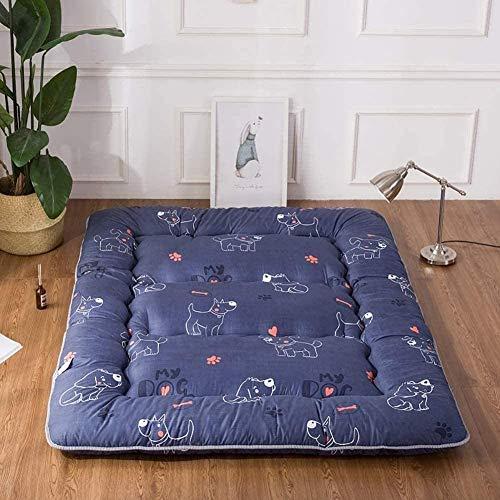 zyl Doppelte einstöckige Matratze Klappbare Matratze für japanische Studentenwohnheime Futon-Bodenmatratze Tragbares Campingmatratze-Kissen für Kinderbett Kinderbett Bettbett Dicke: 10 cm B-180x