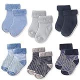 JAKIDAR 6-Pack Baby Socks Thick Wool Socks for Baby Cotton Warm Newborn Socks