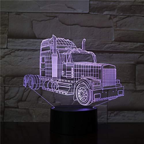 Led-nachtlampje, 3D-vision-zeven-kleuren, afstandsbediening, lichtwissel-lamp van vrachtwagen-kop-accu met afstandsbediening, zorgt voor de beste decoratie in de ruimte en nachtlampjes voor volwassenen