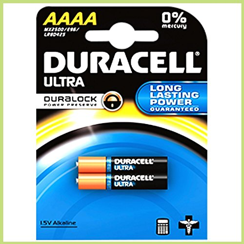 Duracell–Pack von 2Batterien Ultra AAAA Alkaline 1.5V–AAAA