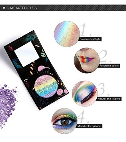 FantasyDay® Professionelle 7 Farben Regenbogen Lidschatten Palette Makeup Kit Schminke Augenschminke Paletten Augen Schatten