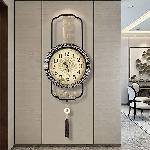 Reloj de pared – Cobre/Metal Puntero/Personalidad/Home/Reloj, Moda Reloj de pared Salón Dormitorio Creative Reloj de pared Reloj de pared (36,5 x 71 cm) Mereces tener