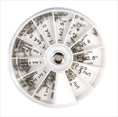 リタプロショップR 眼鏡用ねじ 120個入り めがね サングラス用ねじ 修理ツール 詰め合せキット ネジ ナット 時計用 工具