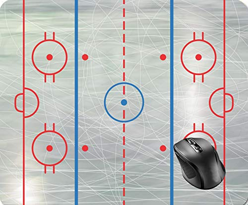 Wdmei Hockey Rink Ice Mouse Pad 8.6 X 7.1 in