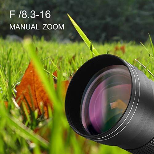 Teleobjetivo 420-800mm f + 8.3-16 para Nikon DSLR T Mount Camera D7200 D5300 D5200 D3300 D3200 D3000 D7100 D7000 + Negro