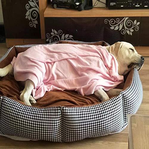 Cama para Perros de Felpa Suave y cálida Cama para Perros Cama para Dormir mullida sofá para Mascotas Perros pequeños y medianos de Varios tamaños -Gaga clásica_XXL-100 * 90 CM